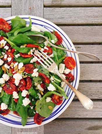 knapperig-spinazie-salade-recept