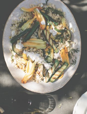 orzo salade met courgette